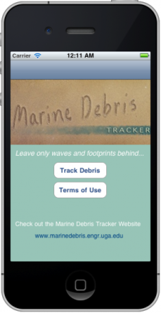 1. The Marine Debris Tracker App.