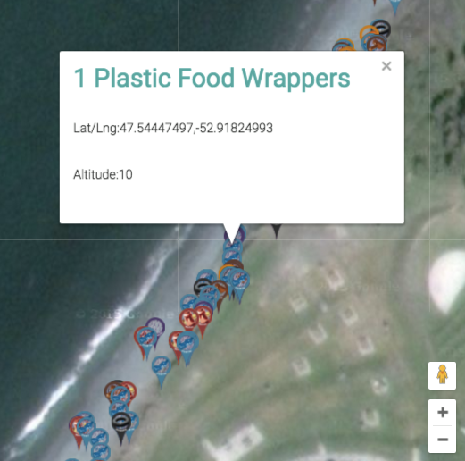 Detail of GIS-tagged items.